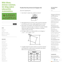 Más ideas, menos cuentas. Un blog sobre educación matemática.