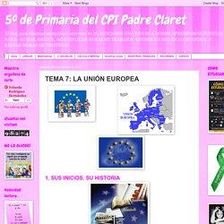 TEMA 7: LA UNIÓN EUROPEA