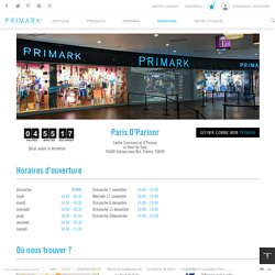 Primark - Magasin : Paris O'parinor