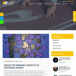 Know the Primary Aspects of Material Design