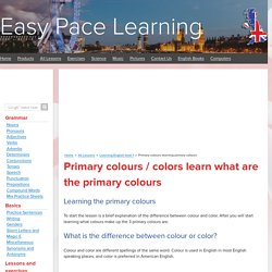Primary colours learning primary colours
