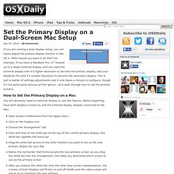 Set the primary display on a dual-screen Mac setup