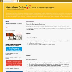 iPads in Primary Education: Apps for Computer Science