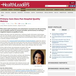 Primary Care Docs Pan Hospital Quality Metrics