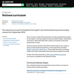 Primary National Curriculum until 2014