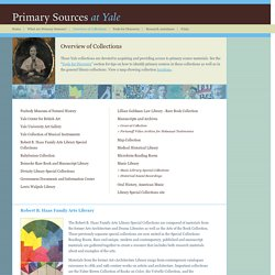 Primary Sources: Overview of Collections