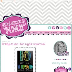 10 Ways to Use 1 iPad in your classroom!