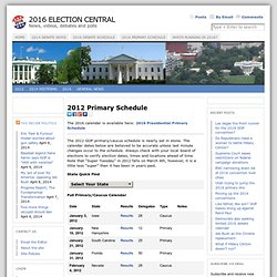 2012 Primary Schedule