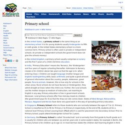 Primary school Facts for Kids