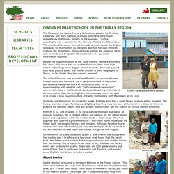 Qwiha Primary School in the Tigray Region