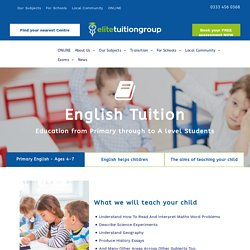 Primary & Secondary School English Tuition