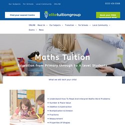 Primary & Secondary School Maths Tuition