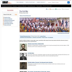 Primary Source Sets - The Civil War - Themed Resources