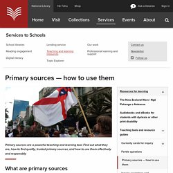 Primary sources — how to use them