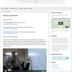 Primary Teachers – Scoilnet Maps