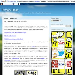 QR Codes and TinyURL in Education