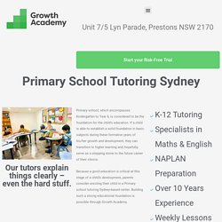 Primary School Tutoring Sydney