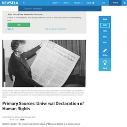 Primary Sources: Universal Declaration of Human Rights