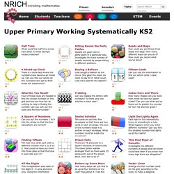 Upper Primary Working Systematically KS2