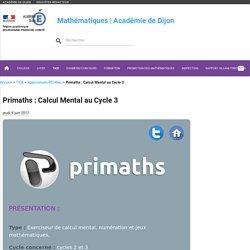 Primaths : Calcul Mental au Cycle 3