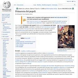 Documento sui moti rivoluzionari del 1848