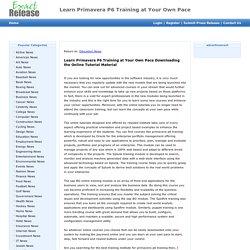 Primavera P6 Training Classes Online