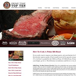 Cooking A Delicious Prime Rib Recipe
