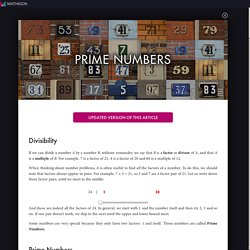 Prime Numbers | World of Mathematics