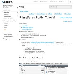 Primefaces portlet tutorial