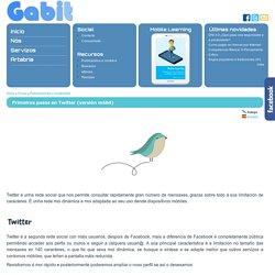 Primeiros pasos en Twitter (versión móbil)