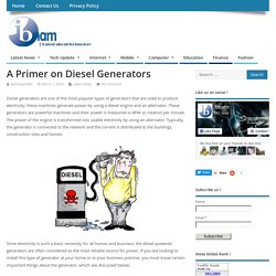 A Primer on Diesel Generators – Ibnam