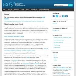 Primer - Social Innovation Generation
