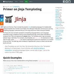 Primer on Jinja Templating