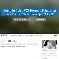 Going to Raise VC? Here's a Primer on Process, People & Powerpoint Deck