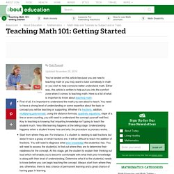 A Primer on How to Teach Math: Getting Started