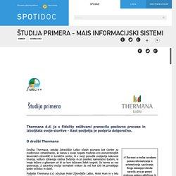 Študija primera - MAiS Informacijski sistemi