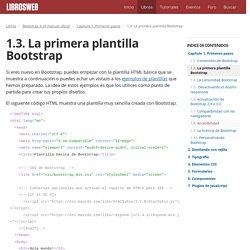 1.3. La primera plantilla Bootstrap (Bootstrap 3, el manual oficial)