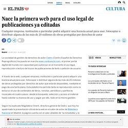Nace la primera web para el uso legal de publicaciones ya editadas