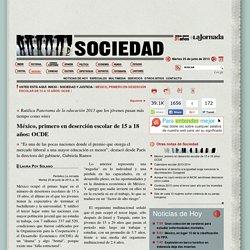 México, primero en deserción escolar de 15 a 18 años: OCDE