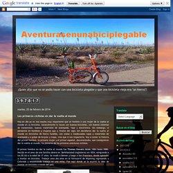 """""""Aventurasenunabiciplegable"""": Los primeros ciclistas en dar la vuelta al mundo"""