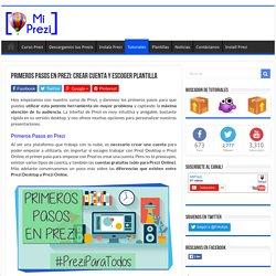 Primeros pasos en Prezi: Crear Cuenta y Escoger Plantilla