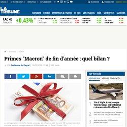 """Primes """"Macron"""" de fin d'année : quel bilan ?"""