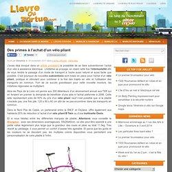 Des primes à l'achat d'un vélo pliant