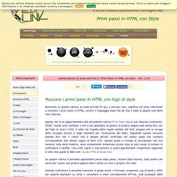 Primi Passi in HTML con Style di Web-Link