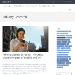 Priming Across Screens: Understanding the Cross-channel Impact of Mobile and TV