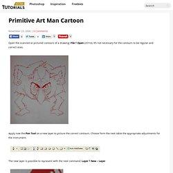 Primitive Art Man Cartoon