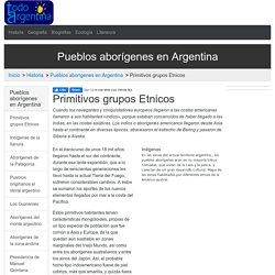 Primitivos grupos Etnicos