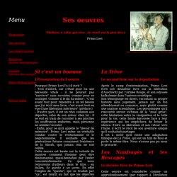 """Primo Levi - Analyse de """"Si c'est un homme"""""""
