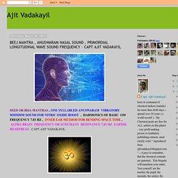 Ajit Vadakayil: BEEJ MANTRA , ANUSWARAM NASAL SOUND , PRIMORDIAL LONGITUDINAL WAVE SOUND FREQUENCY – CAPT AJIT VADAKAYIL