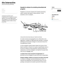 Quando lo schizzo è la scintilla primordiale del progetto — the Interactive